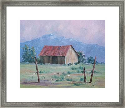 Homestead Framed Print by Marcea Clive