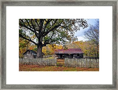 Homestead On The Buffalo Framed Print by Marty Koch