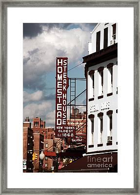 Homestead Steakhouse Framed Print by John Rizzuto