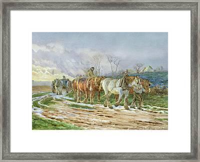 Homeward Bound Framed Print by Charles James Adams