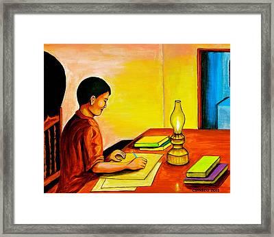 Homework Framed Print by Cyril Maza