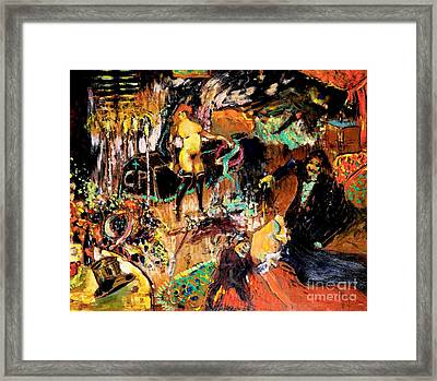 Hommage Posthume A Un Bon Vivant Framed Print by Pg Reproductions