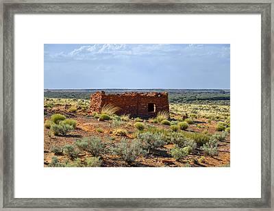 Homolovi Ruins State Park Az Framed Print by Christine Till