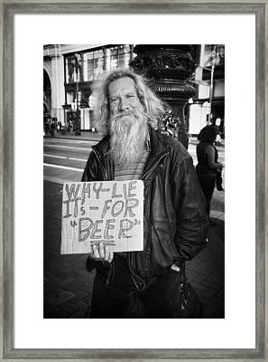 Honesty Framed Print by Erik Brede