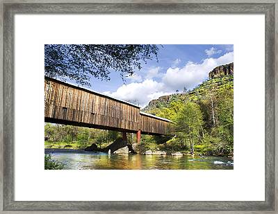 Honey Run Covered Bridge Framed Print by Abram House