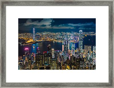 Hong Kong 10 Framed Print by Tom Uhlenberg