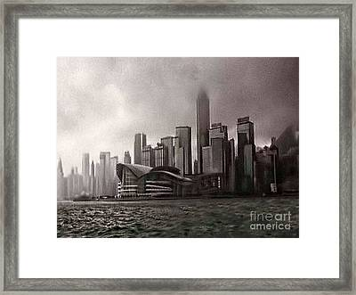 Hong Kong Rain 5 Framed Print by Tom Prendergast
