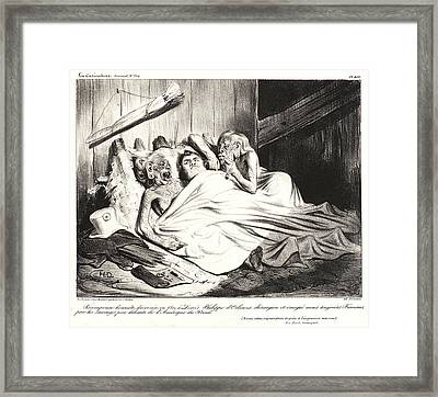 Honoré Daumier French, 1808 - 1879. Récompense Honnête Framed Print by Litz Collection