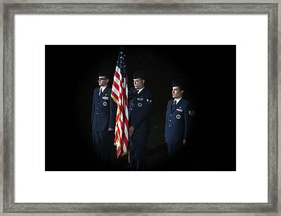 Honor Guard Framed Print by Karol Livote