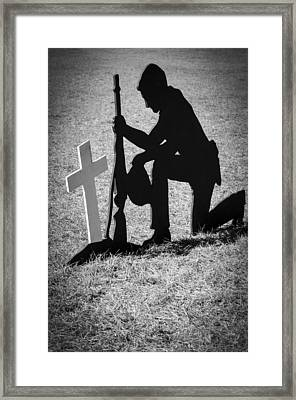 Honor In The Field Framed Print by Carolyn Marshall