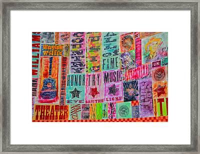 Honor Thy Music Blanket Framed Print by Dan Sproul