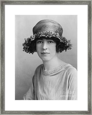 Honorable Alexandra Bertie C1900 Framed Print by Padre Art