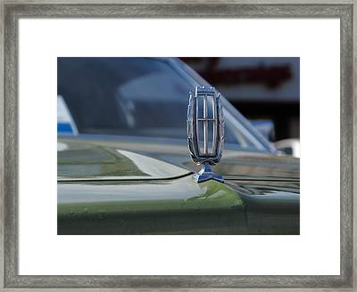 Hood Ornament On The 1975 Green Mercury Marquis Framed Print by Andrei Filippov