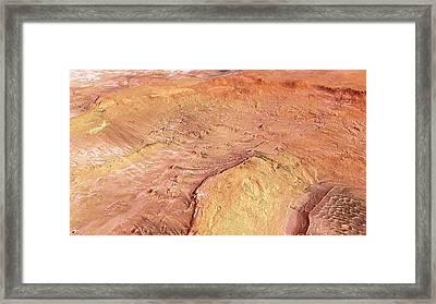 Hooke Crater Framed Print by Esa/dlr/fu Berlin (g. Neukum)