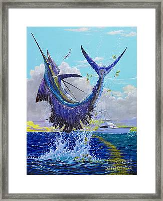 Ocean City Framed Print featuring the painting Hooked Up Off004 by Carey Chen