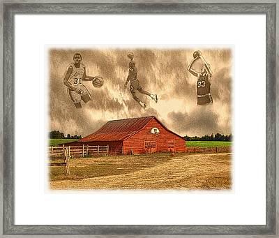Hoop Dreams Framed Print by Charles Ott