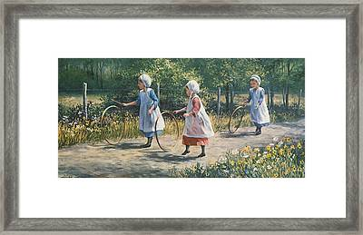 Hooping It Up Framed Print by Laurie Hein