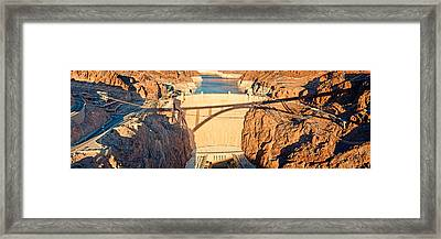 Hoover Dam From Bridge, Lake Mead Framed Print by Panoramic Images