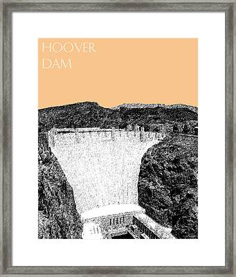 Hoover Dam - Wheat Framed Print by DB Artist