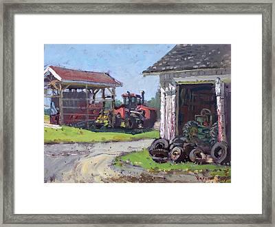Hoover Farm In Sanborn Framed Print by Ylli Haruni