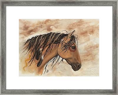 Hopa - Majestic Mustang Series Framed Print by AmyLyn Bihrle