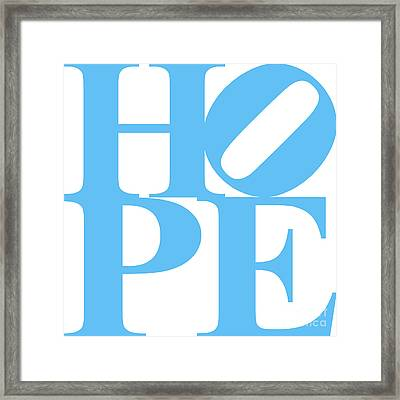Hope 20130710 Blue White Framed Print by Wingsdomain Art and Photography