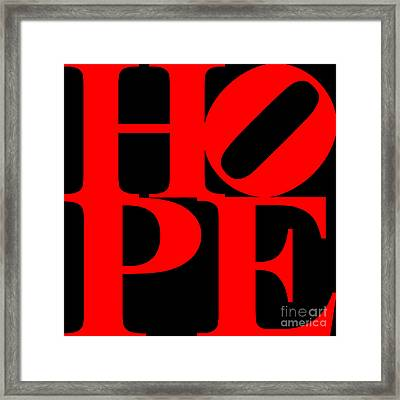 Hope 20130710 Red Black Framed Print by Wingsdomain Art and Photography