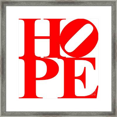 Hope 20130710 Red White Framed Print by Wingsdomain Art and Photography