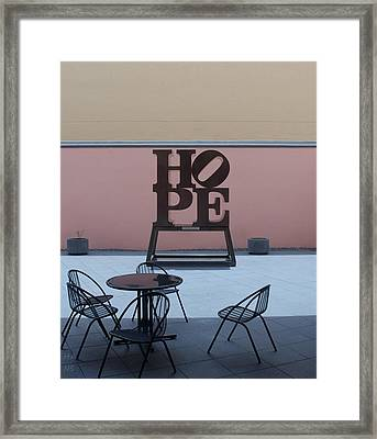 Hope And Chairs Framed Print by Rob Hans
