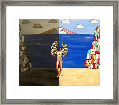 Hope And Despair Framed Print by Sandra Marie Adams