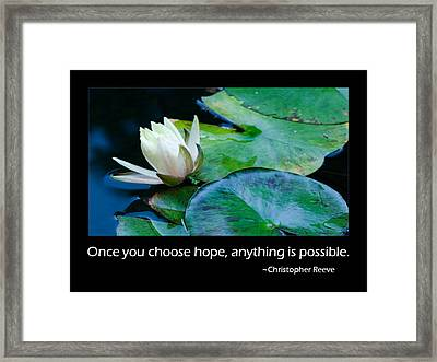 Hope Framed Print by Don Schwartz