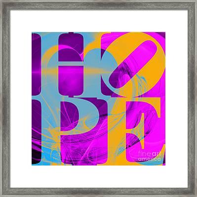 Hope Fractal Heart 20130710 V1 Framed Print by Wingsdomain Art and Photography