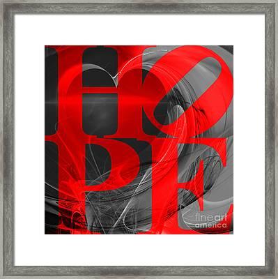 Hope Fractal Heart 20130710 V1b Framed Print by Wingsdomain Art and Photography