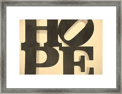 Hope In Sepia Framed Print by Rob Hans