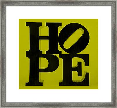 Hope In Yellow Framed Print by Rob Hans