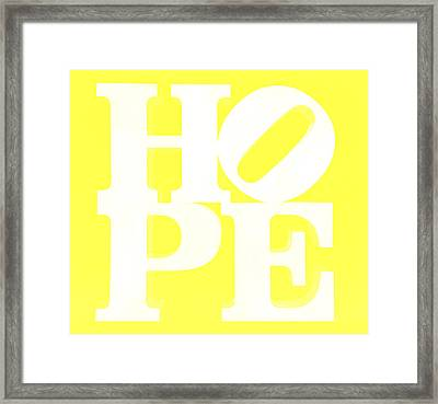 Hope Inverted Yellow Framed Print by Rob Hans
