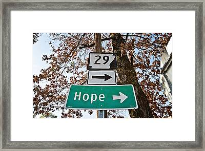 Hope Framed Print by Scott Pellegrin