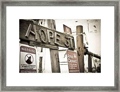 Hope Street Framed Print by Priya Ghose