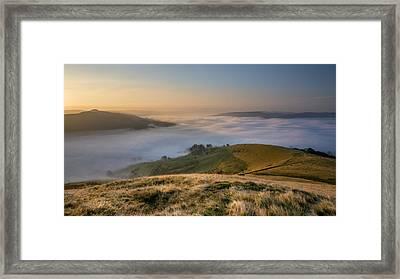 Hope Valley Autumn Mist Framed Print by Steve Tucker
