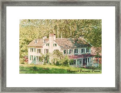 Hopewell Furnace In Pennsylvania Framed Print by Olivier Le Queinec