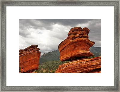 Hoping For Rain - Garden Of The Gods Colorado Framed Print by Christine Till
