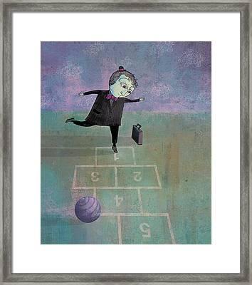 Hopscotch Framed Print by Dennis Wunsch