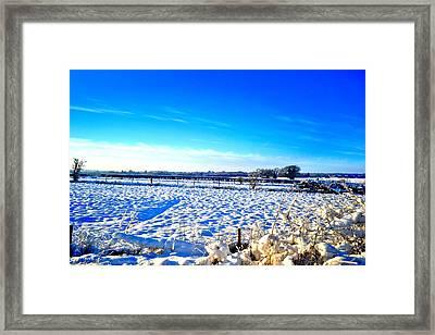 Horizon Framed Print by Dave Woodbridge
