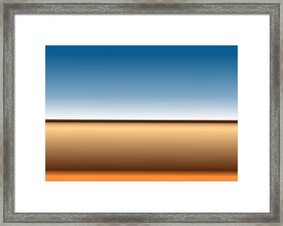 Horizon Framed Print by Jeff Iverson