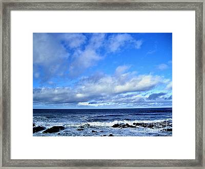 Horizon Framed Print by Nina Ficur Feenan