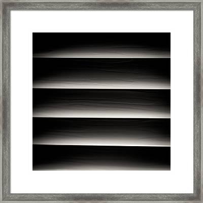 Horizontal Blinds Framed Print by Darryl Dalton