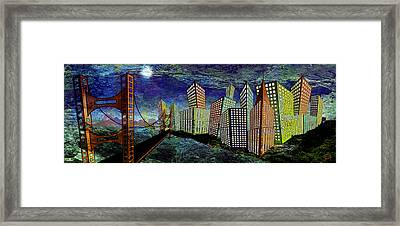 Horizontal Moon Framed Print by Troy Brown
