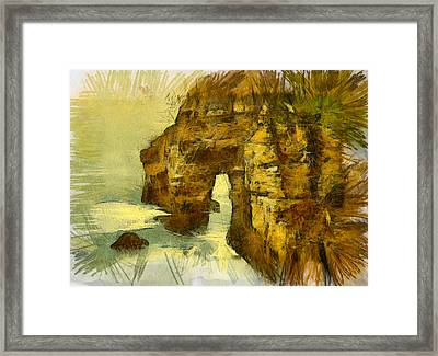 Horn Head Temple Arch Framed Print by Unknown