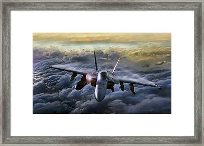 Hornet Sting Framed Print by Peter Chilelli