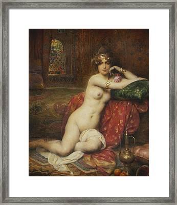 Hors Concours Femme D'orient Framed Print by Henri Adrien Tanoux